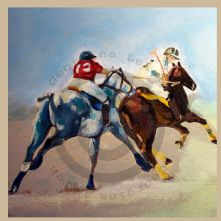 Polo Players Print